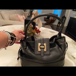 Vintage Kate Spade Leather Satchel - Black